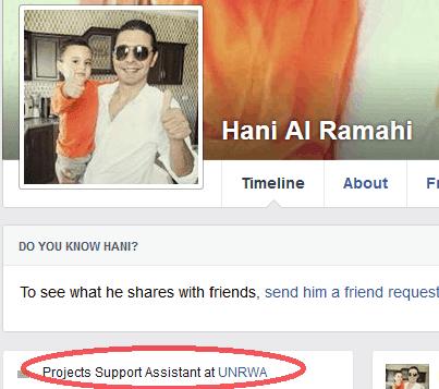 Hani Al Ramahi - UNRWA link