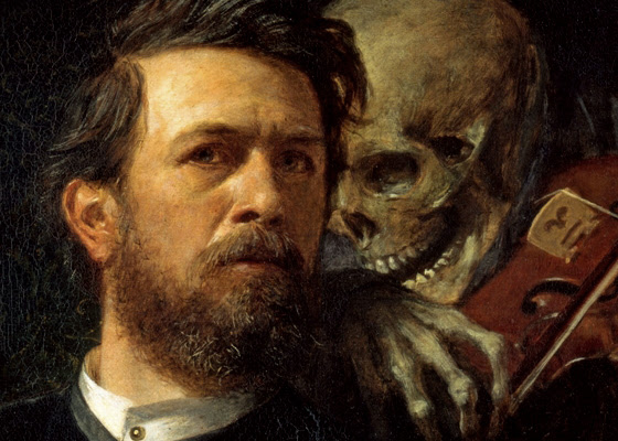 Self-portrait with Fiddling Death, by Arnold Böcklin 1872