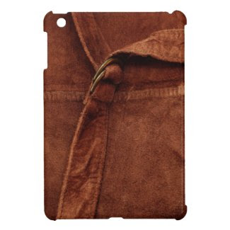 Brown Suede With Strap And Buckle iPad Mini Cover