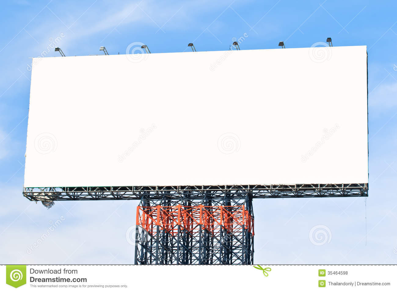 Blank Billboard Ready For New Advertisement Royalty Free Stock ...
