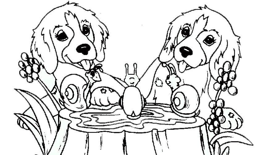 Ausmalbilder Hunde Calendar June