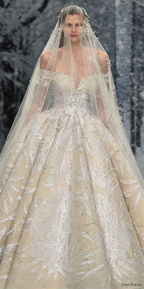 Ziad Nakad Couture Fall 2017 Dresses ? ?The Snow Crystal