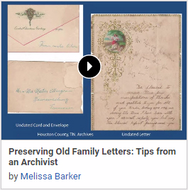 Preserving Old Family Letters: Tips from an Archivist
