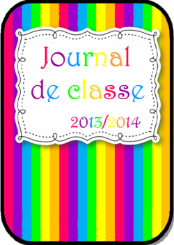 PAGES DE GARDE CAHIER JOURNAL