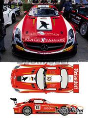 Racing Decals 43: Calcas escala 1/24 - Mercedes Benz SLS AMG GT3 Reissdorf Nº 63 - Adam Christodoulou + Yelmer Buurman + Mike Parisy - 24 Horas de SPA Francorchamps 2014 - para kit de Fujimi FJ12565, FJ12569