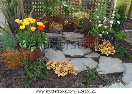 Small Space Patio Garden Design Stock Photo 12416521 : Shutterstock