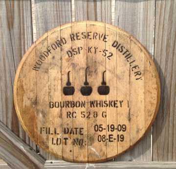 Woodford Reserve Bourbon Barrel Head Whiskey Barrel Head