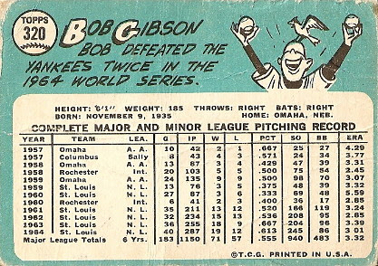 Bob Gibson (back) by you.