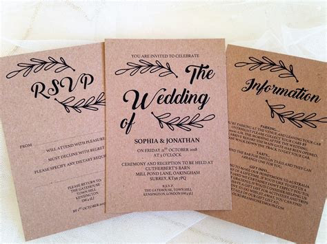 Make your own wedding invitations, is there any need at