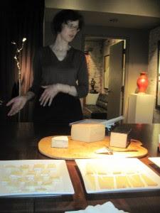 Eating cheese at the Distillery District. Copyright Deborah Abrams Kaplan