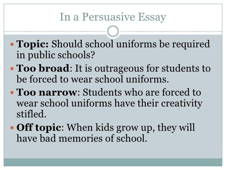 writing a thesis statement for school uniforms