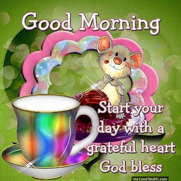 Good Morning Start Your Day With A Grateful Heart Pictures Photos