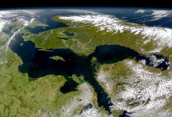 El Báltico vista desde el espacio: sin fronteras ... (Imagen: NASA)