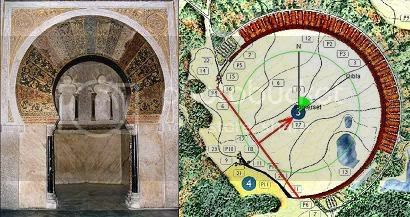 Cordoba mihrab and crescent orientation