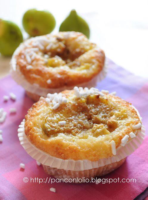 muffin con farina di mandorle e fichi