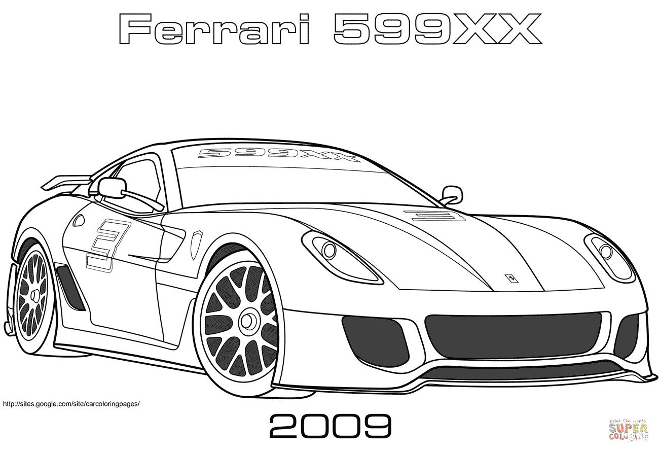 Disegno Di Ferrari 599xx Del 2009 Da Colorare Disegni Da Colorare
