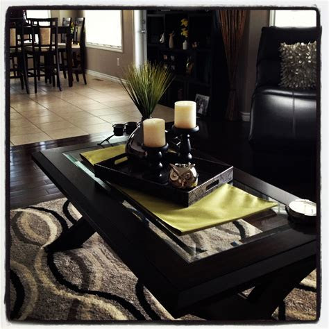 coffee table decor   pop  color