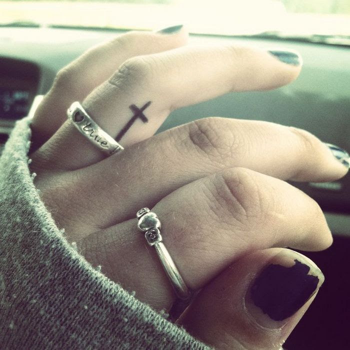 Image Of Cross Tattoos On Fingers Promo Time