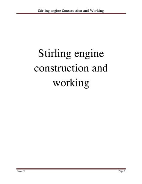 Stirling Engine Report_BSc-ME-014