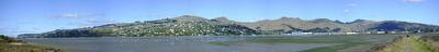 Photo of the Port Hills in Christchurch, New Zealand, taken on 2009-04-10