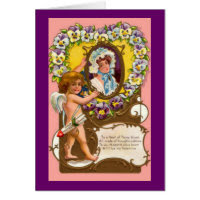 Cupid Vintage Valentine's Card