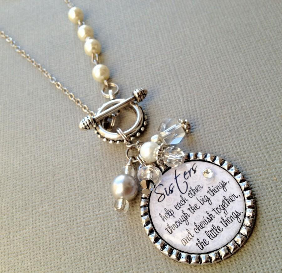 Sister Gift Personalized Necklace Wedding Quote Birthday Gift