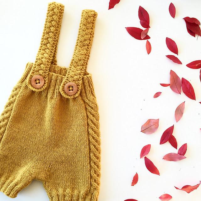 culotte et bretelles tricotées mellowshorts par Ann-Kristin Fugleberg