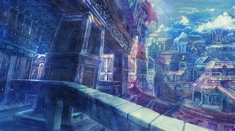 collection image wallpaper aesthetic anime city background