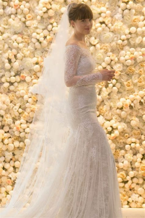 Fifty Shades Freed Ana?s Wedding Dress Elle Interview With