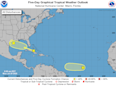 Forecasters monitoring weak tropical systems in Gulf, Caribbean and Atlantic