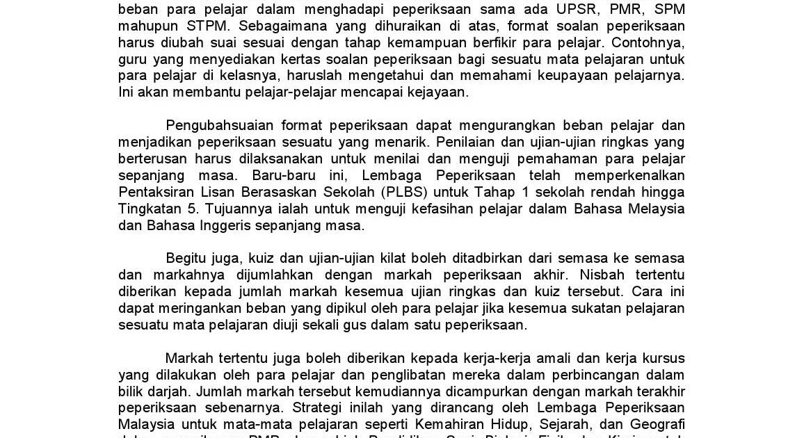 Contoh Soalan Lisan Spm Bahasa Melayu I Soalan