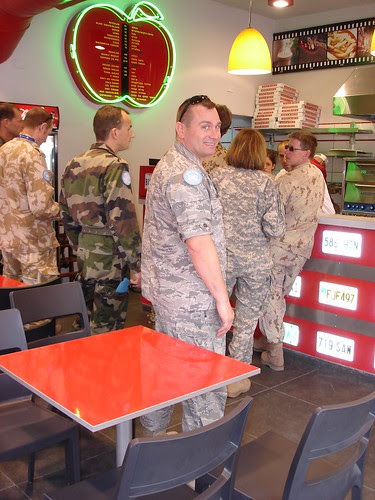 UN troops at pizza place 1