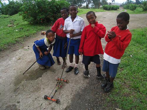 School kids in Buea, Cameroon
