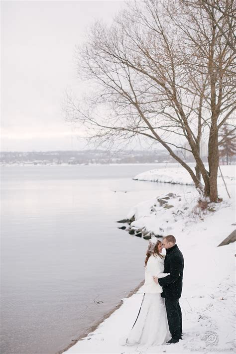 Barrie Wedding Photos at MacLaren Art Centre in the Winter