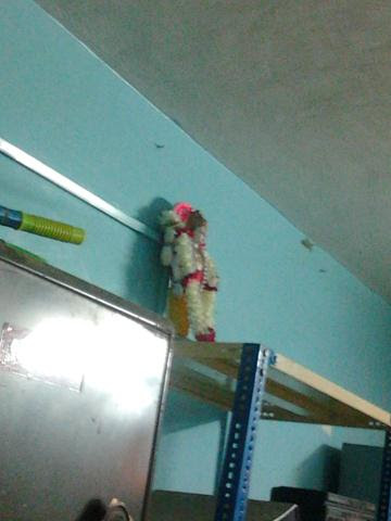 Idol was kept in the store room