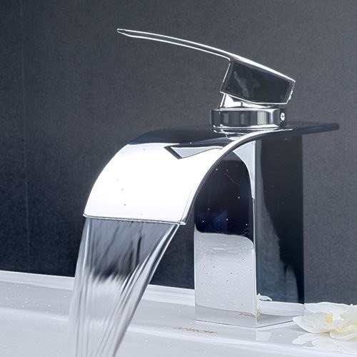 Contemporary Waterfall Bathroom Sink Faucet 8061 - contemporary ...