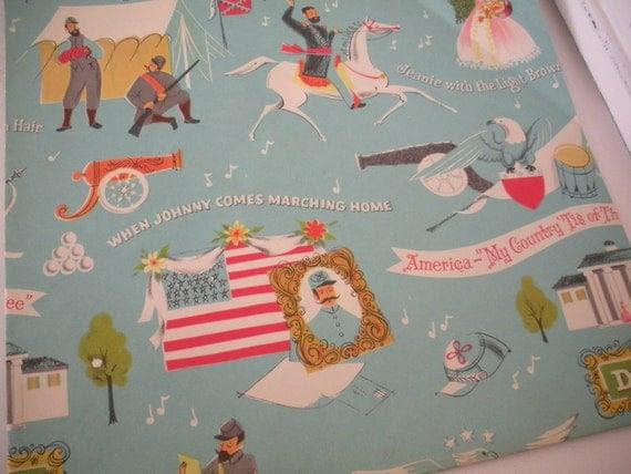 Great Unique Civil War Patriotic Wrapping Paper