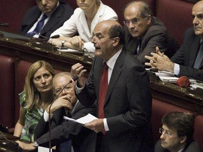 Bersani, en una intervención parlamentaria. efe