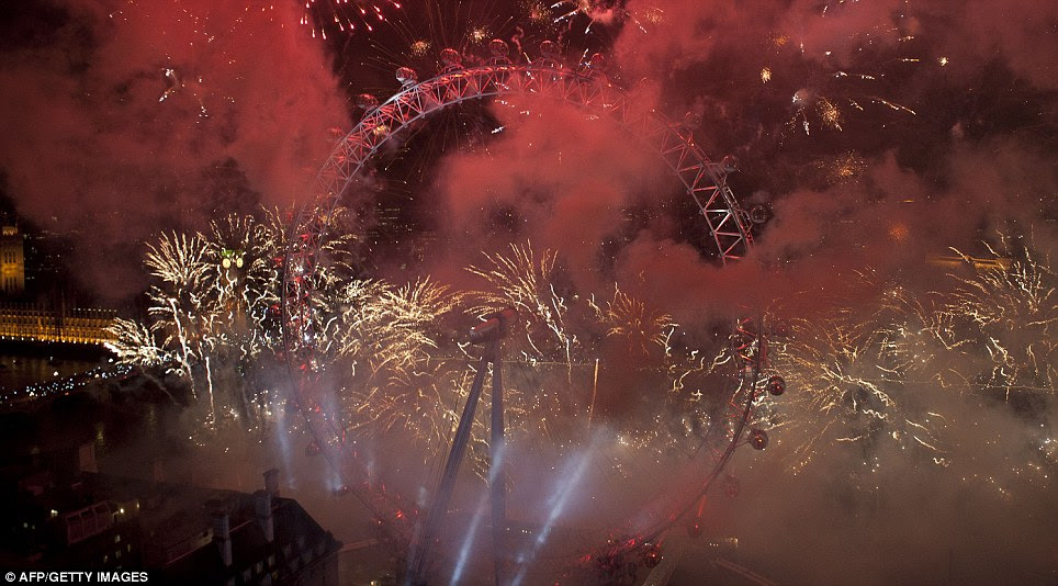 LONDON: Mayor of London Boris Johnson said: 'Our New Year fireworks were a brilliant start to a spectacular year.'