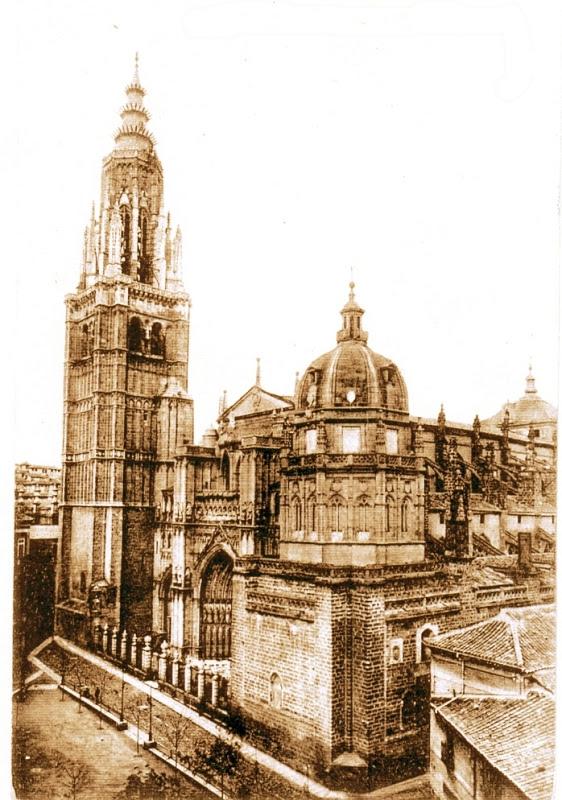 Catedral de Toledo a inicios del siglo XX.