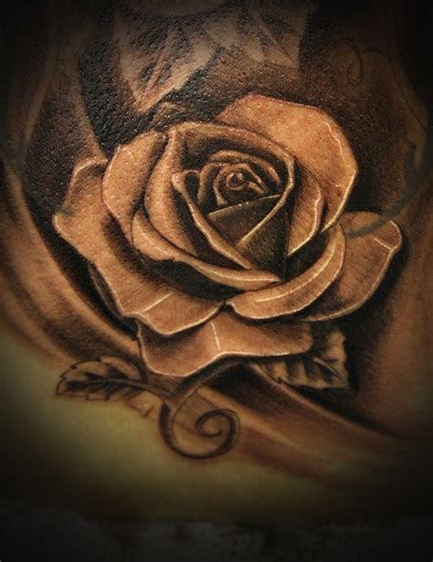 grey rose realistic tattoo tattoomagz tattoo designs