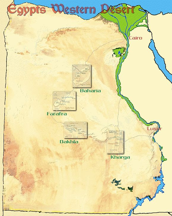 Map And Information For The Oases Of Wadi El Gedid In The