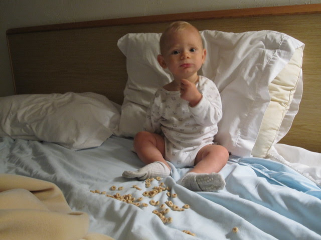 Eating Cheerios in the Bed on Vacation