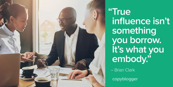 true influence isn't something you borrow. It's what you embody.