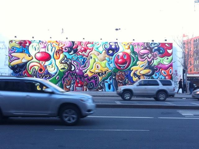 Day 39 Kenny Scharf mural E. Houston