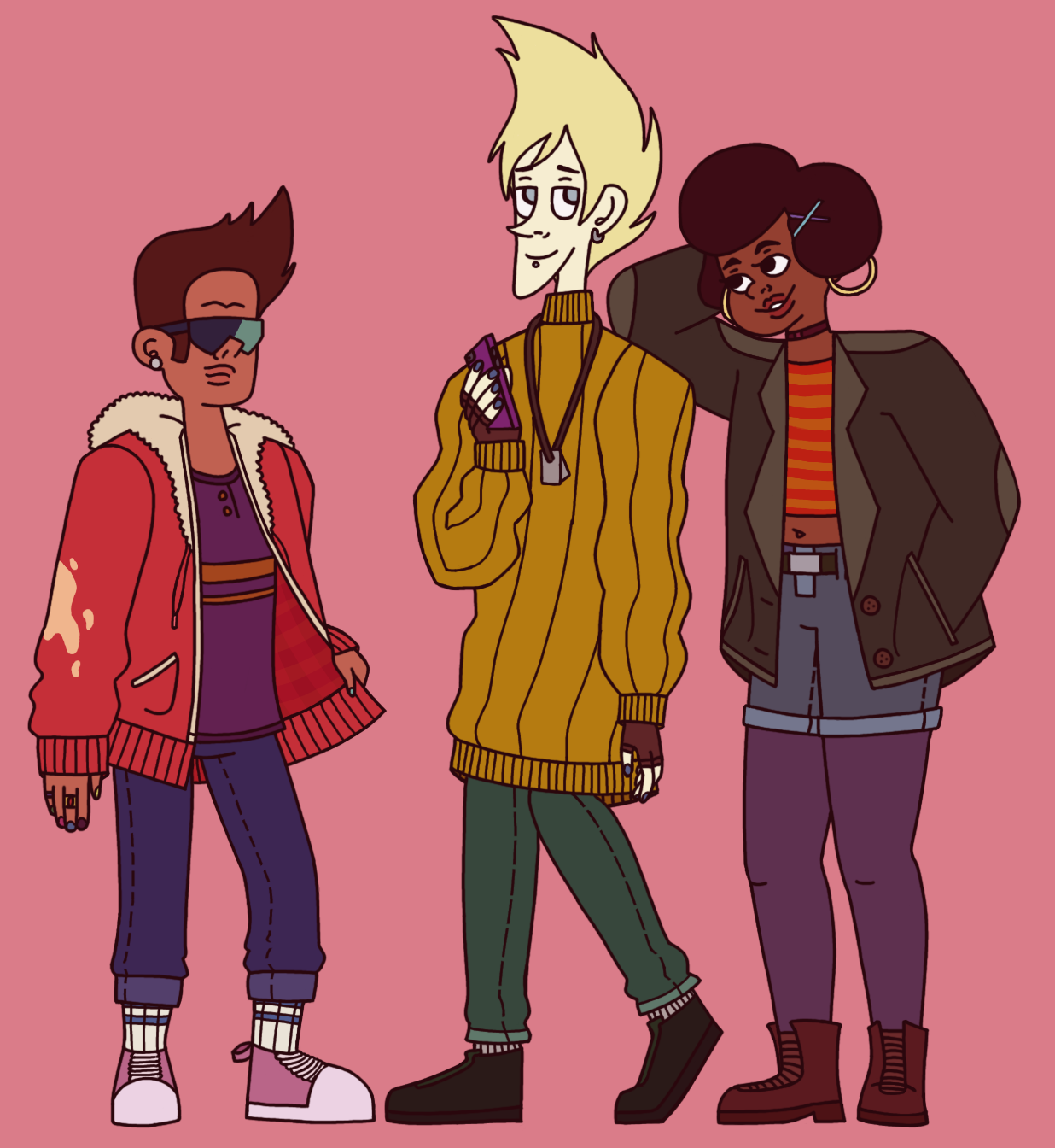 some cool kids in fall fashion