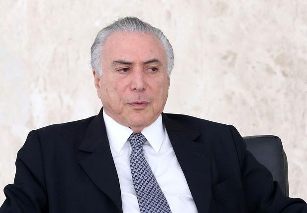 O presidente interino Michel Temer em cerimônia com embaixadores (Foto: Wilson Dias/Agência Brasil)