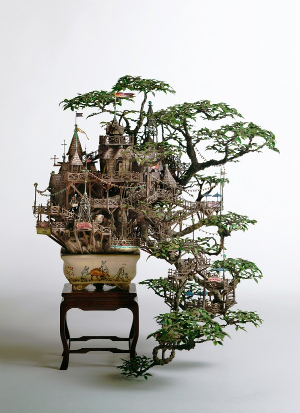 Miniature Bonsai Tree Houses