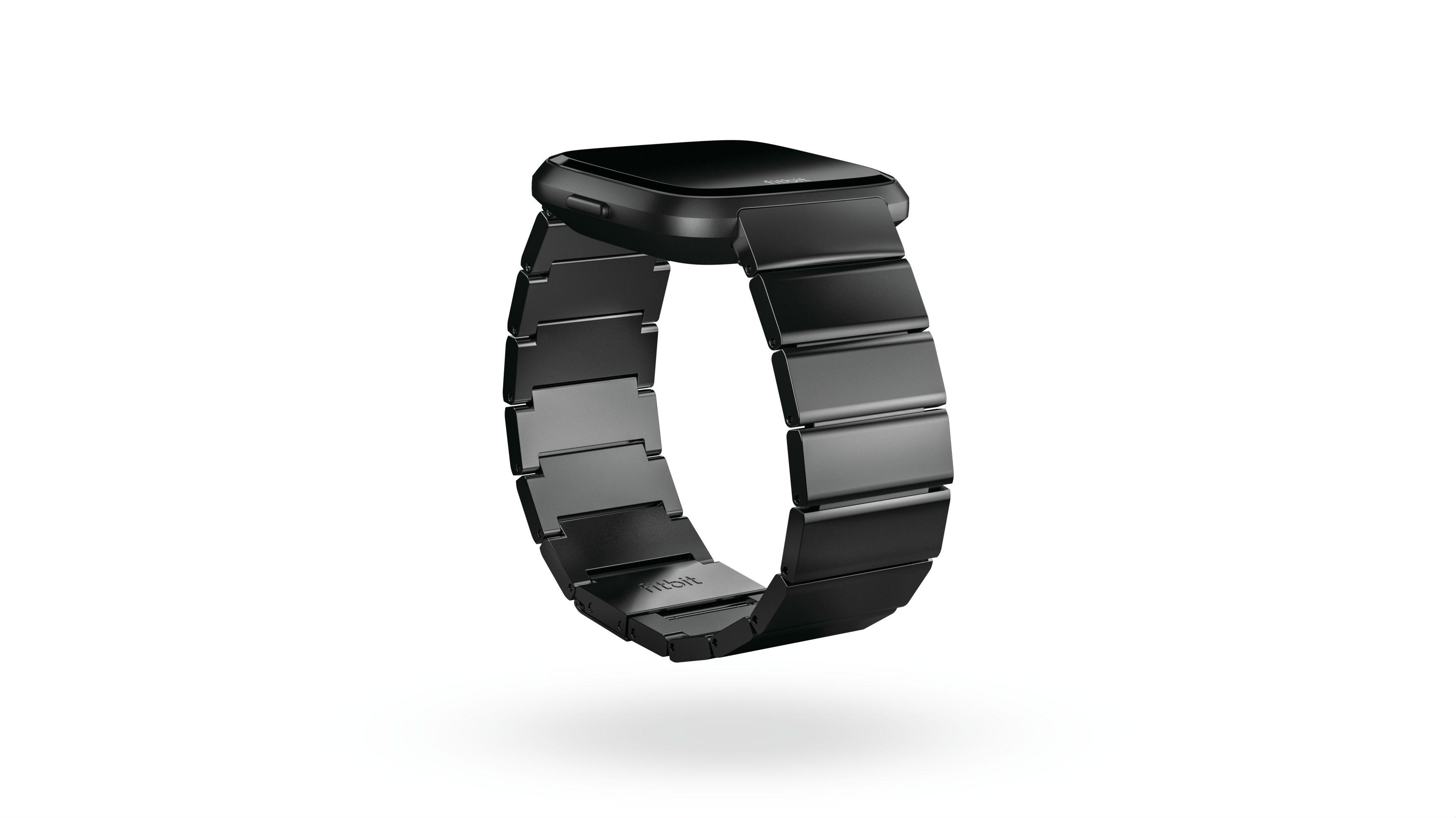 Fitbit Versa black metal links