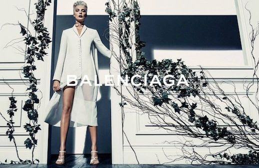 LE FASHION BLOG BALENCIAGA SS 2014 AD CAMPAIGN MODEL DARIA WERBOWY BY STEVEN KLEIN SPRING SUMMER COLLECTION SHORT BLEACH BLOND HAIR PIXIE CUT SLICKED BACK DARK VAMPY LIPSTICK WHITE BLAZER JACKET SHEER WHITE SKIRT WHITE STRAPPY SANDALS HEELS 6 photo LEFASHIONBLOGBALENCIAGASS2014ADCAMPAIGNDARIAWERBOWYBYSTEVENKLEIN6.jpg